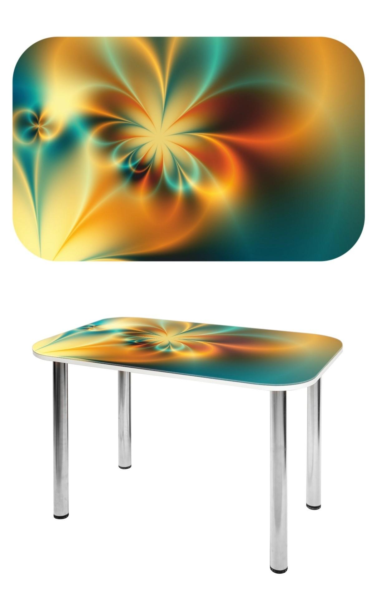 Прямоугольный стеклянный стол СО-Д-02-2