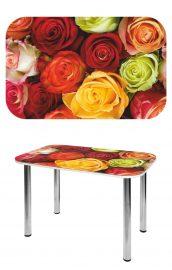 Прямоугольный стеклянный стол СО-Д-02-3