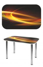 Прямоугольный стеклянный стол СО-Д-02-8