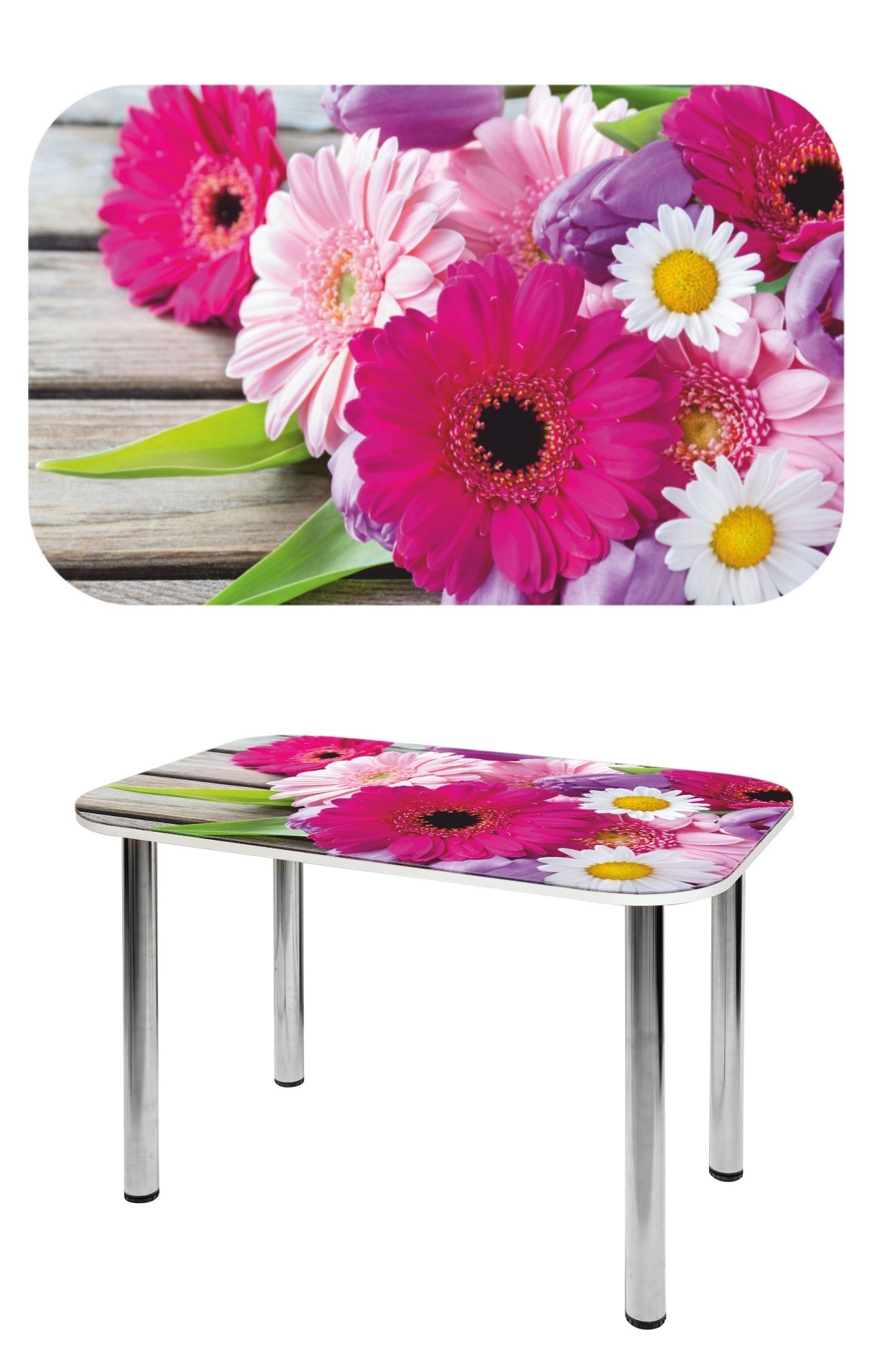 Прямоугольный стеклянный стол СО-Д-02-15