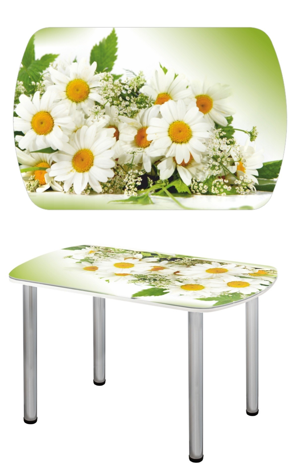 Прямоугольный стеклянный стол СО-Д-03-10