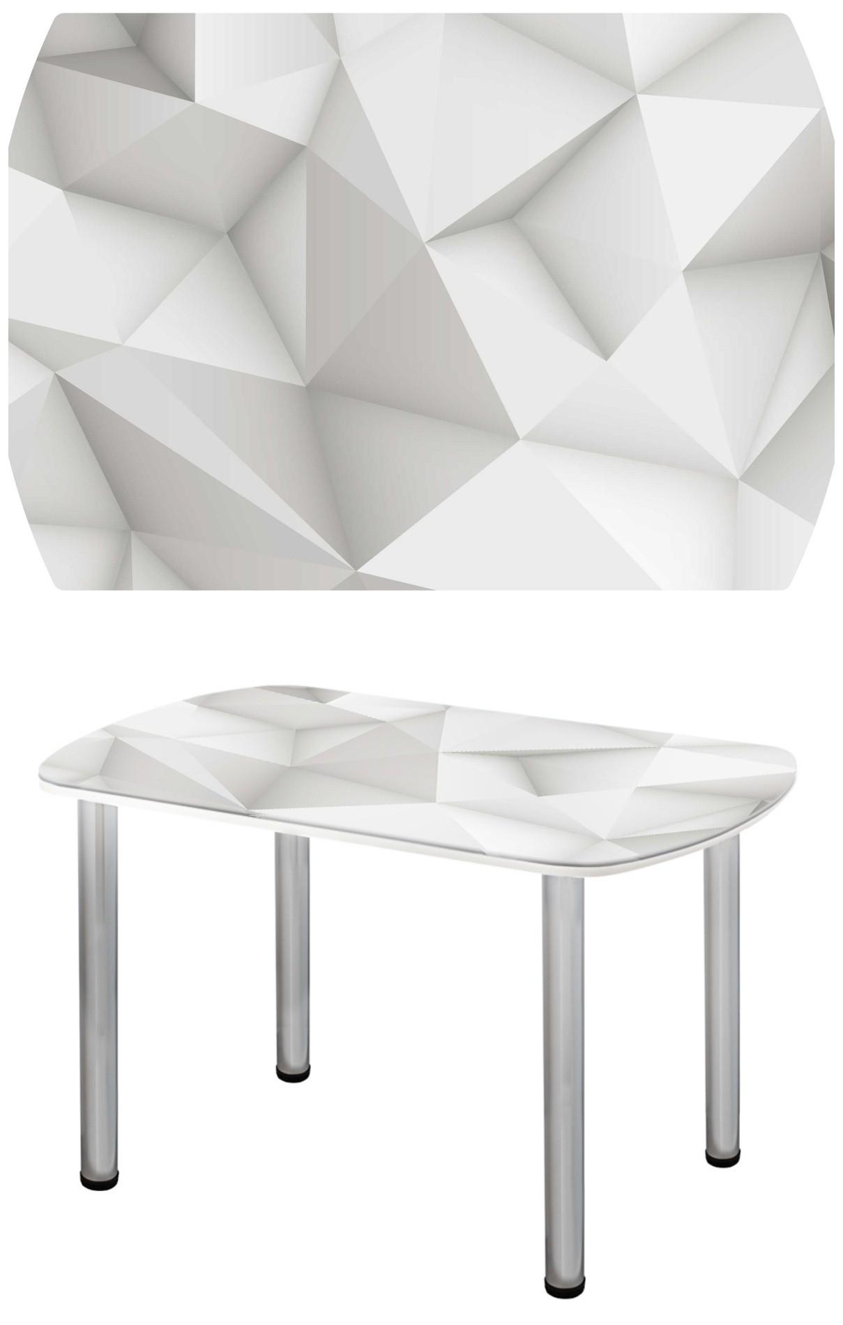Прямоугольный стеклянный стол с фигурами СО-Д-03-13