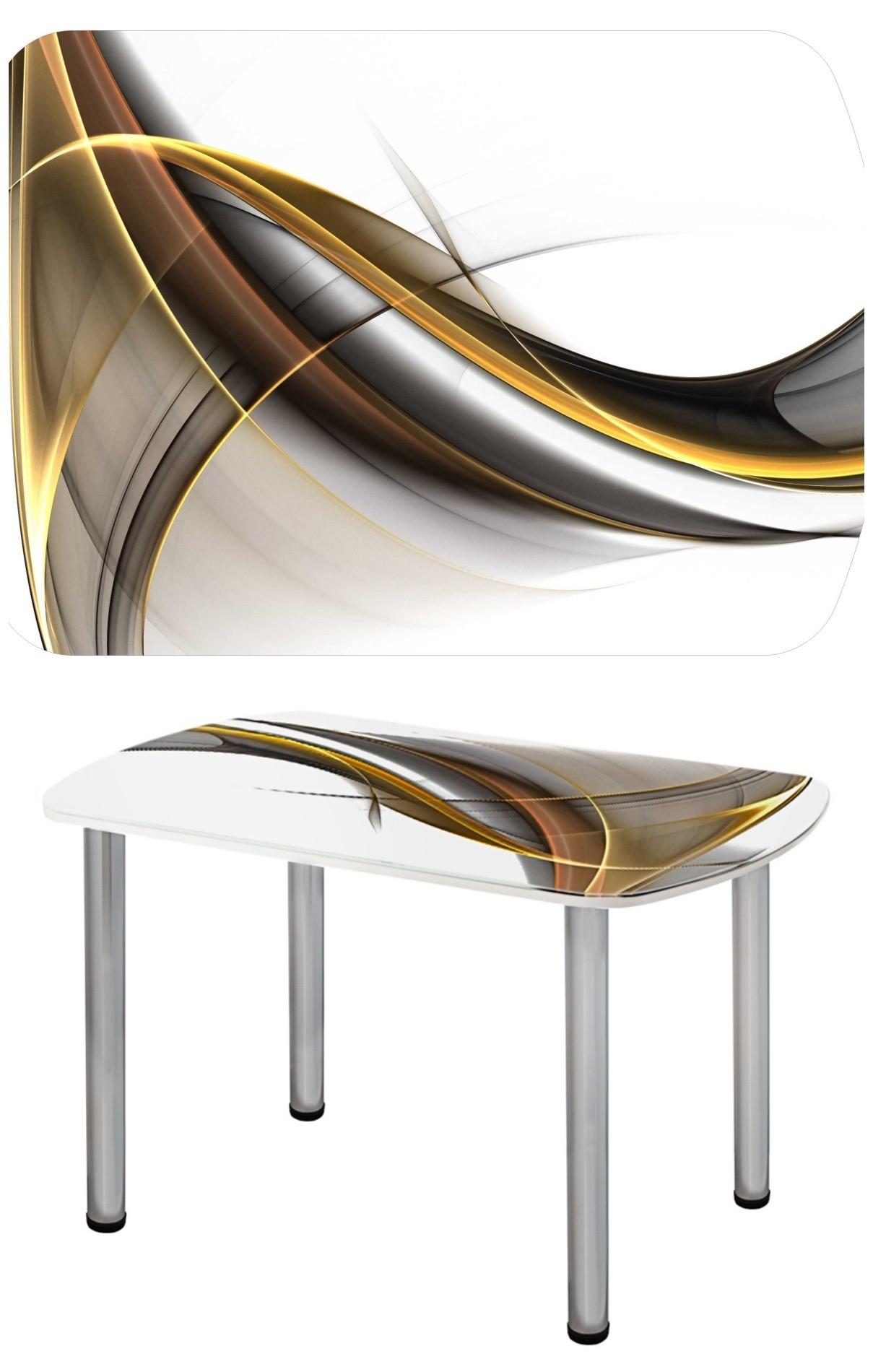 Прямоугольный стеклянный стол СО-Д-03-14
