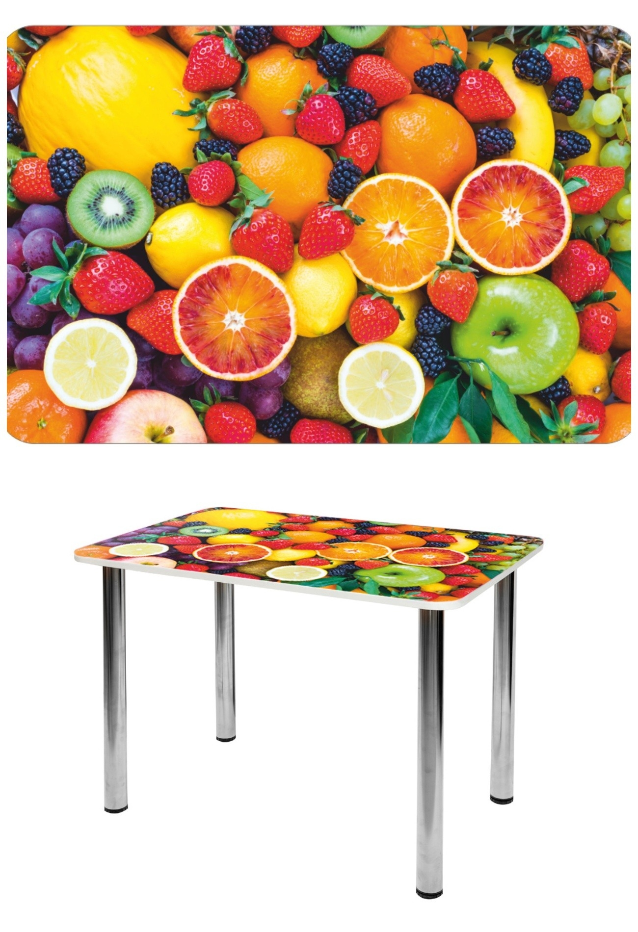 Прямоугольный стеклянный стол СО-Д-01-13