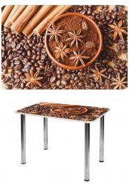 Прямоугольный стеклянный стол СО-Д-01-14