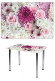 Прямоугольный стеклянный стол СО-Д-01-15