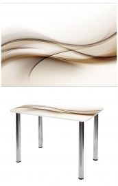Прямоугольный стеклянный стол СО-Д-01-19