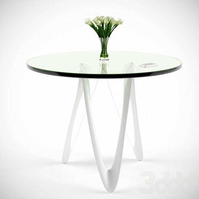 Круглые стеклянные столы фото
