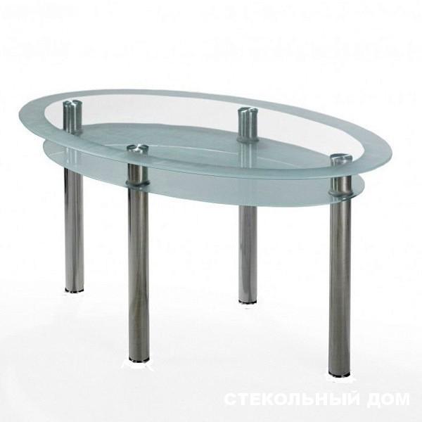 Стеклянный овальный стол №16 «Визит»