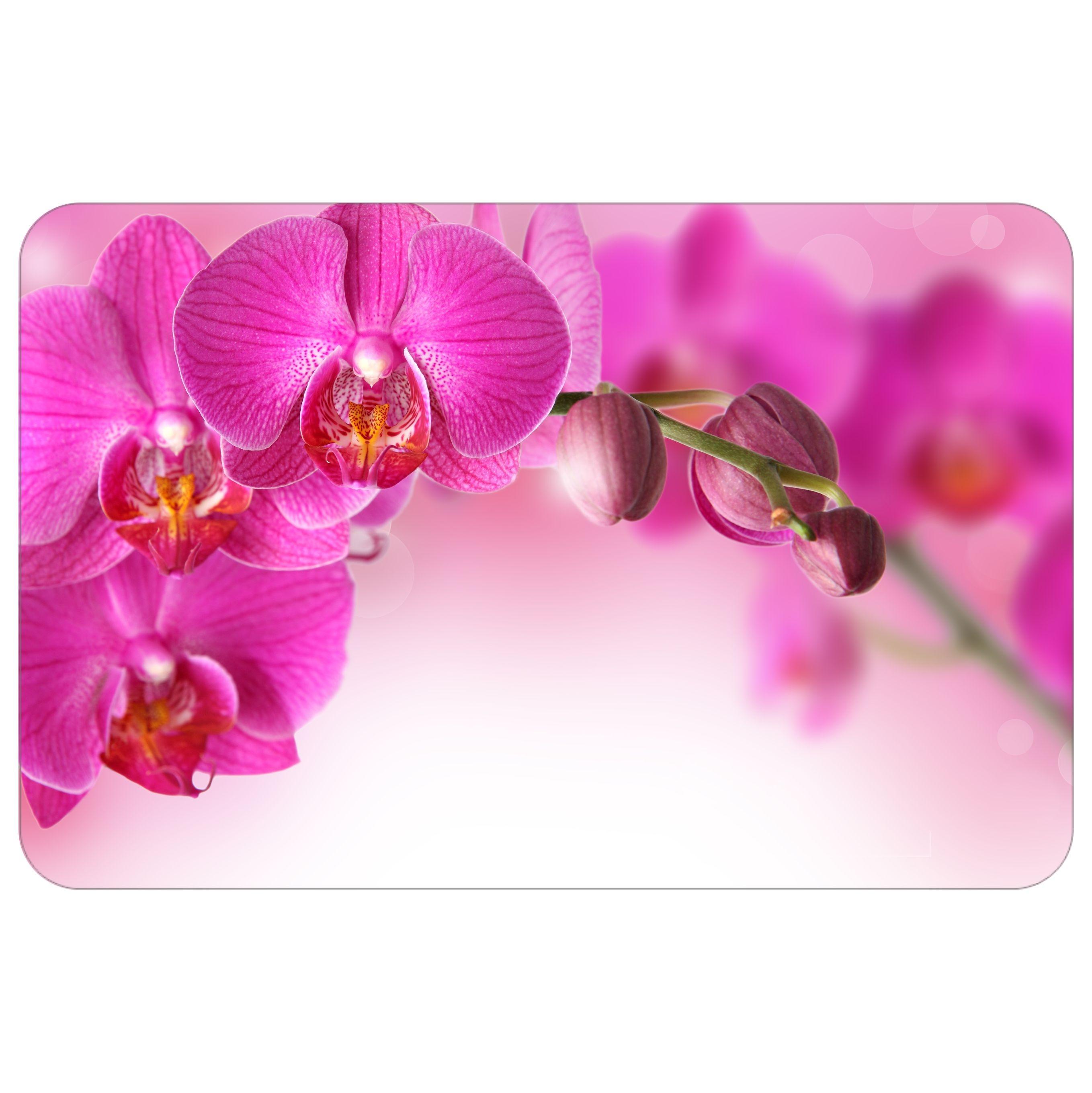 Столешница из стекла с фиолетовыми цветами СО-Д-01-9