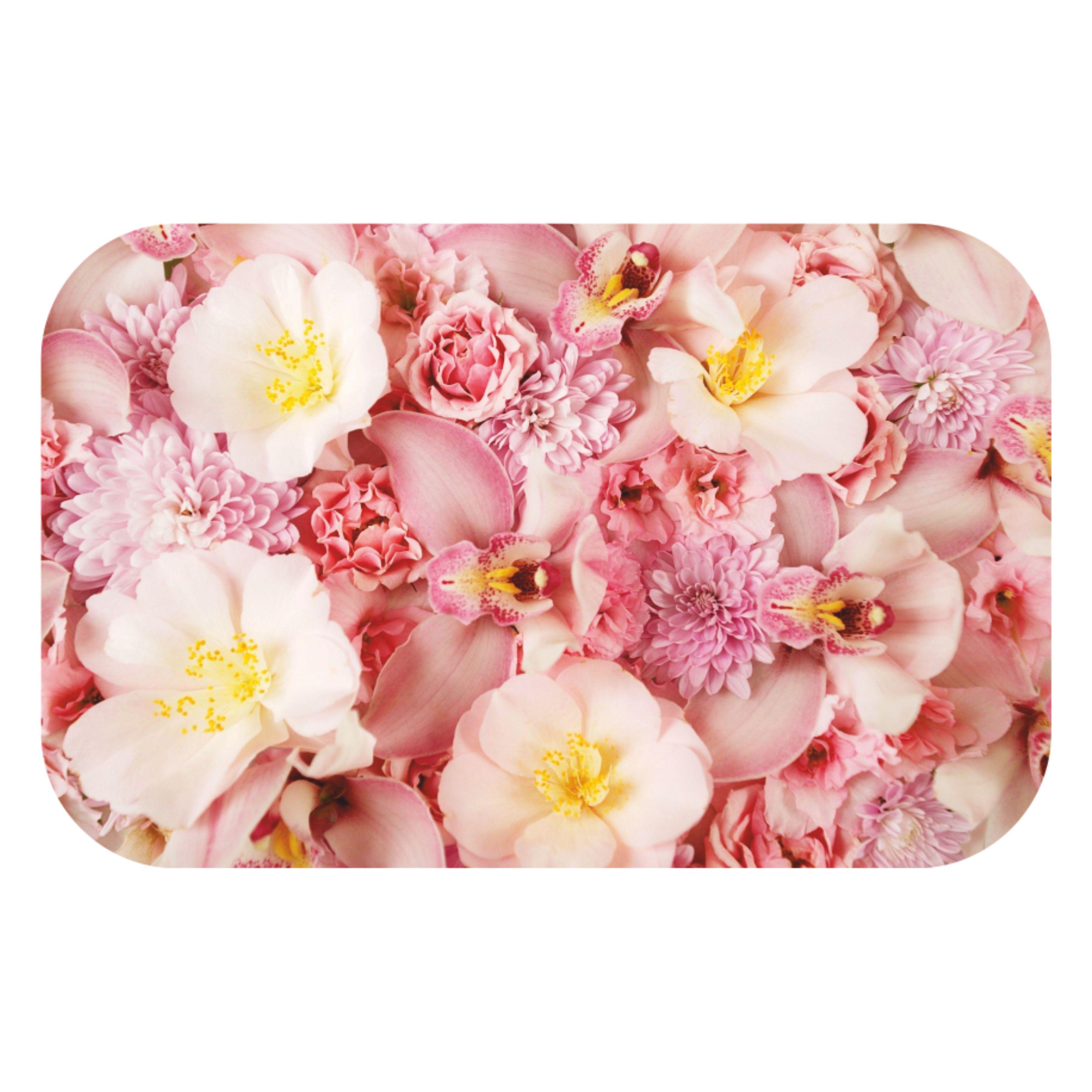 Столешница из стекла с изображением розовых цветов СО-Д-02-16
