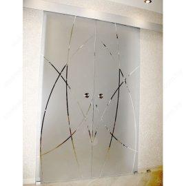 Перегородка с откатными дверями SL-20