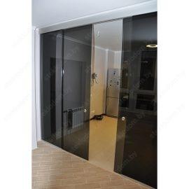 Перегородка с откатными дверями SL-21