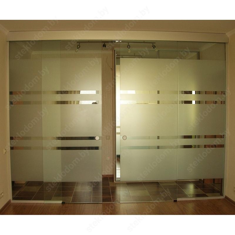 Перегородка с откатными дверями SL-22