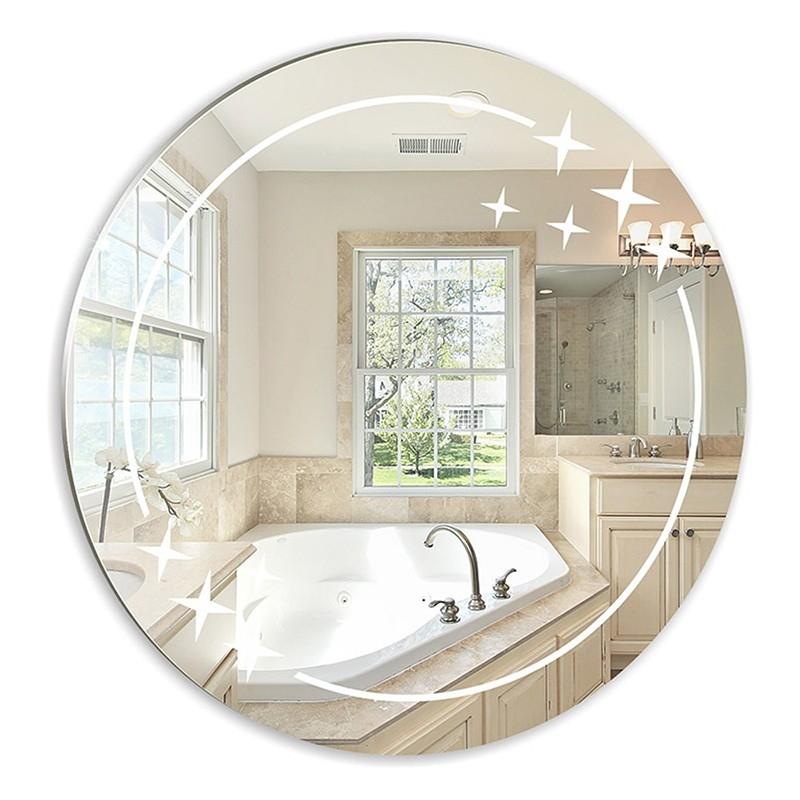 Зеркало с полировкой и пескоструйным рисунком BM-14